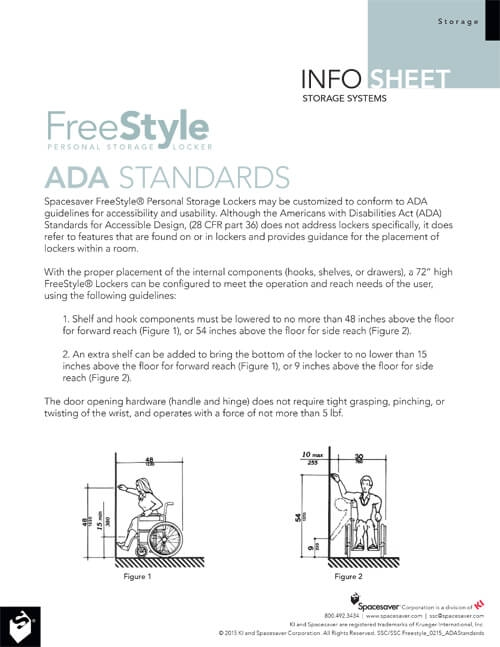 INFO SHEET: FREESTYLE PERSONAL STORAGE LOCKER ADA COMPLIANCE