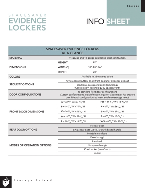 Download Evidence Lockers At-A-Glance Info Sheet