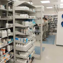 Pharmacy with FrameWRX modular storage system