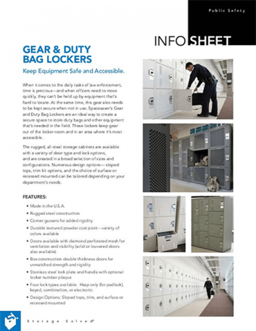 Info Sheet: Gear & Duty Bag Lockers