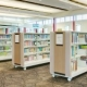 Library carts for flexible storage and display