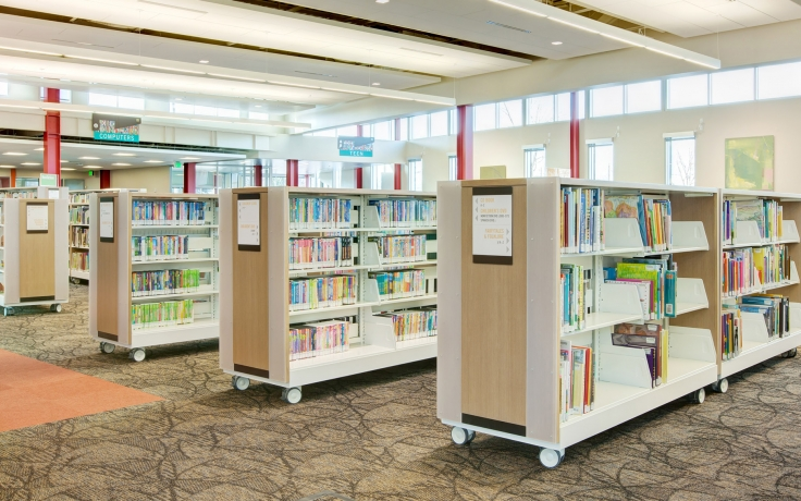 Swell Library Shelving On Wheels Interior Design Ideas Tzicisoteloinfo