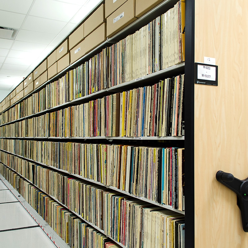 music-LP-storage-compact-shelving-on-rails
