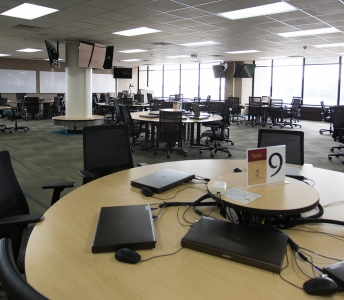 High-bay shelving facility makes room for instructional innovation