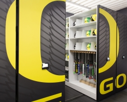 Softball equipment storage and display