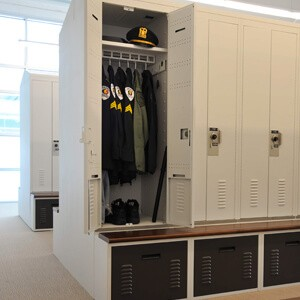 Skokie, Illinois Police Department Personal Storage Lockers