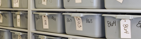 Inmate Storage on mobile shelving at Arapahoe County Detention Center